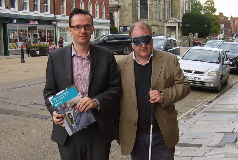 Simon Hoare MP with Mike Bell of RNIB