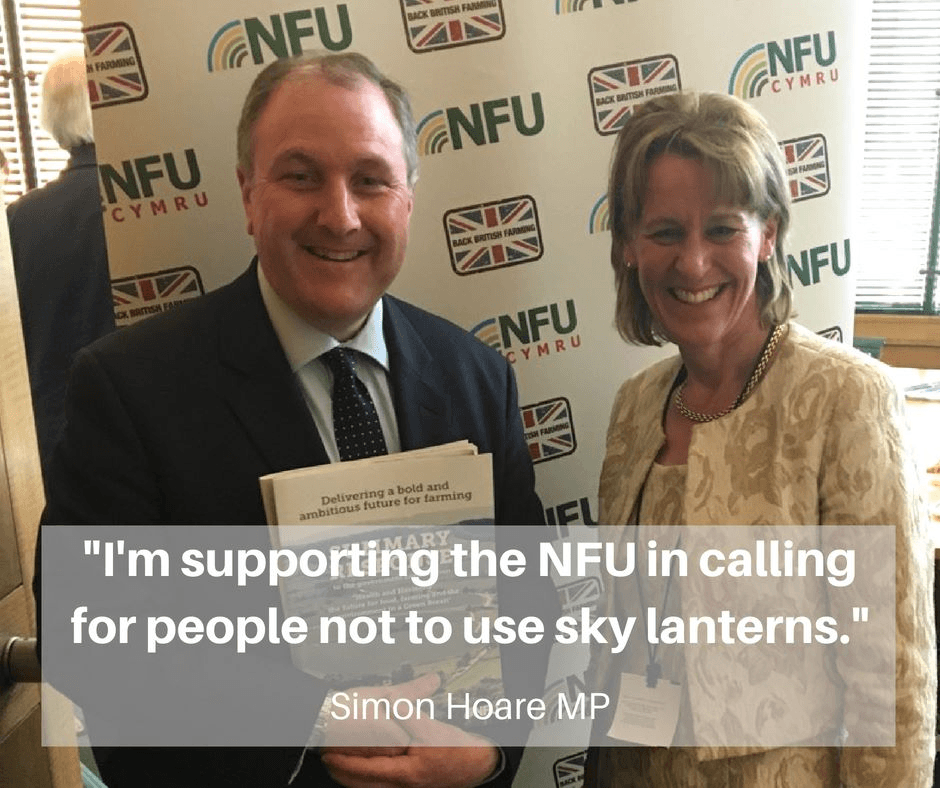 Simon Hoare MP highlights the dangers of sky lanterns