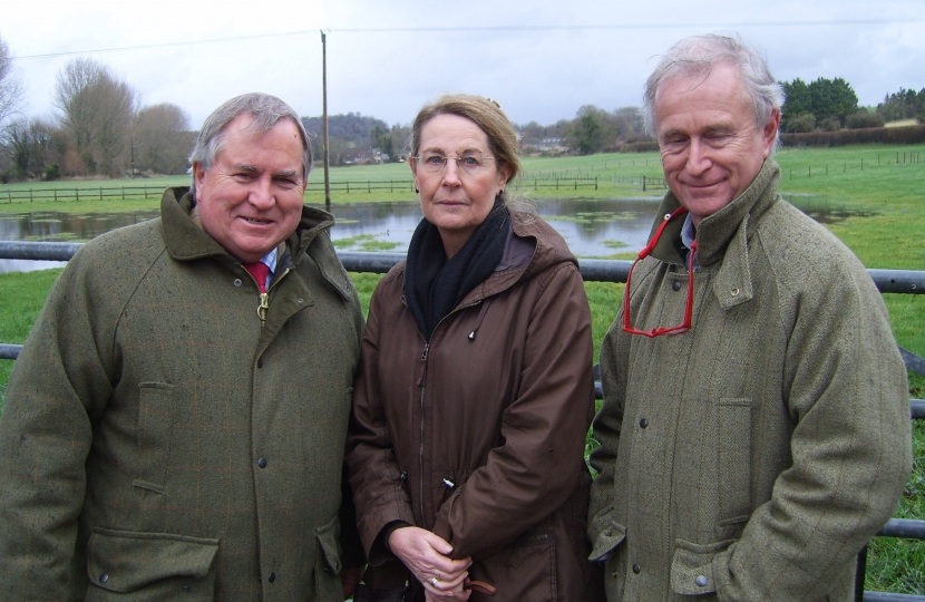 Bob Walter MP, Cllr Sherry Jespersen and Chairman of Parish Council Scott Norman