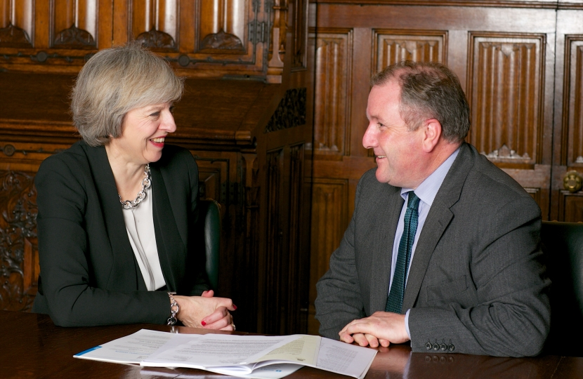 Simon Hoare MP with the Prime Minister, Theresa May